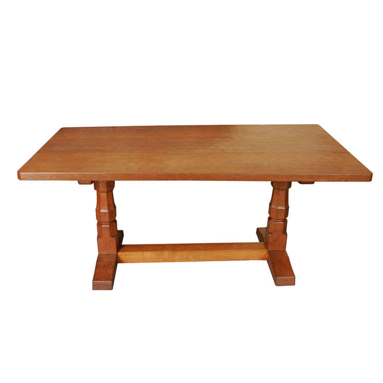 "Robert ""Mouseman"" Thompson Oak refectory dinning table"