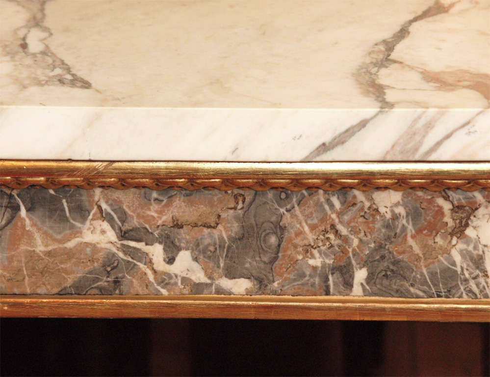 Pair Of  Marble Inlaid Italian Console Tables For Sale 1
