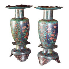 Great Pair Of Cloissonne  Vases