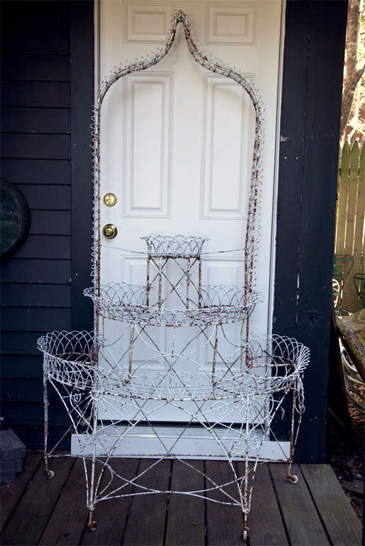 Antique Wire 3 Tier Plant Stand At 1stdibs