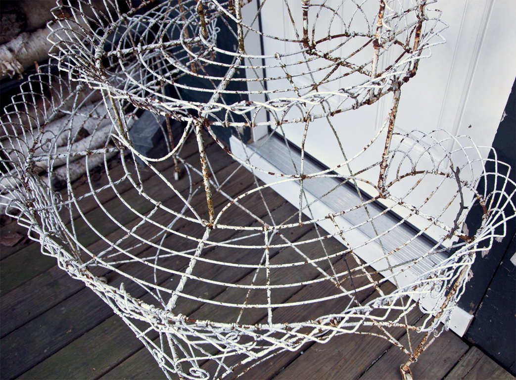 Antique Wire 3 Tier Plant Stand For Sale at 1stdibs