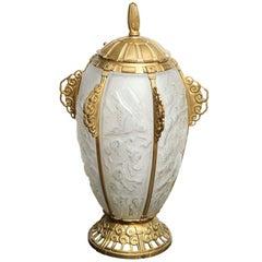 Rare Art Deco Lamp by Sabino