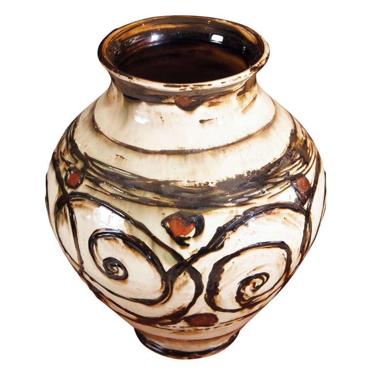 kaehler pottery vase at 1stdibs. Black Bedroom Furniture Sets. Home Design Ideas