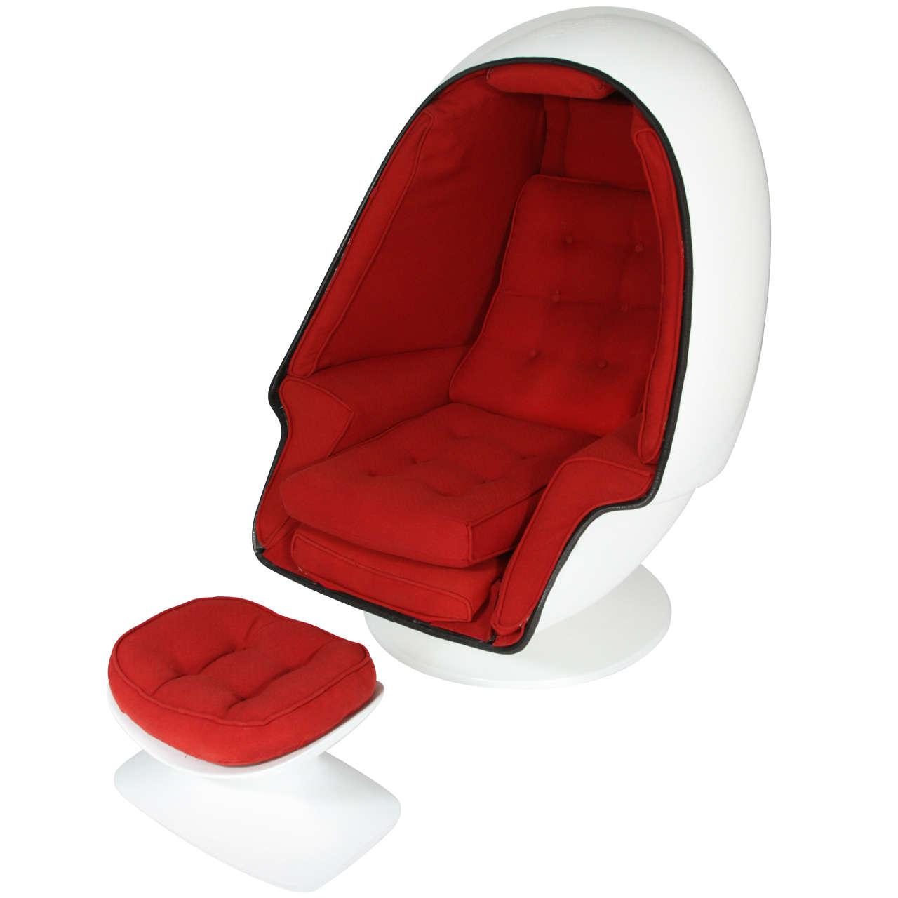 - Fiberglass egg chair ...