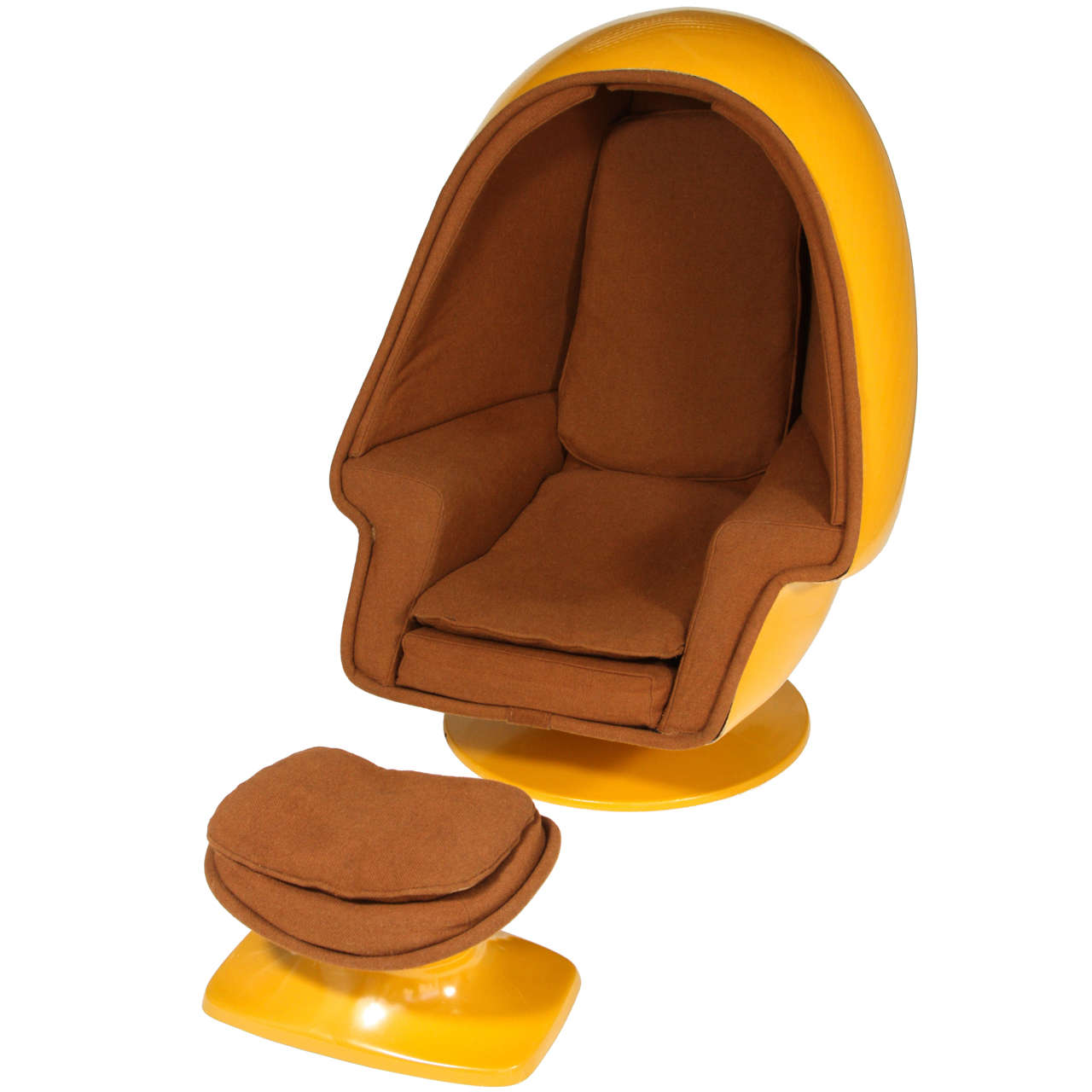 1970 vintage lee west alpha chamber egg pod stereo chair at 1stdibs
