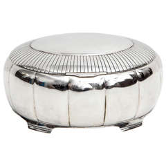 A Fine Scandinavian Silver Lidded Box by Just Andersen