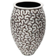 Contemporary Glazed Stoneware Urn by Per Weiss