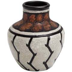 Stoneware vase by Charles Catteau