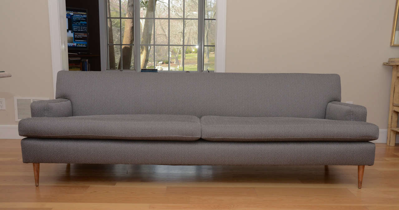 American Vintage Sofa With New Upholstery At 1stdibs
