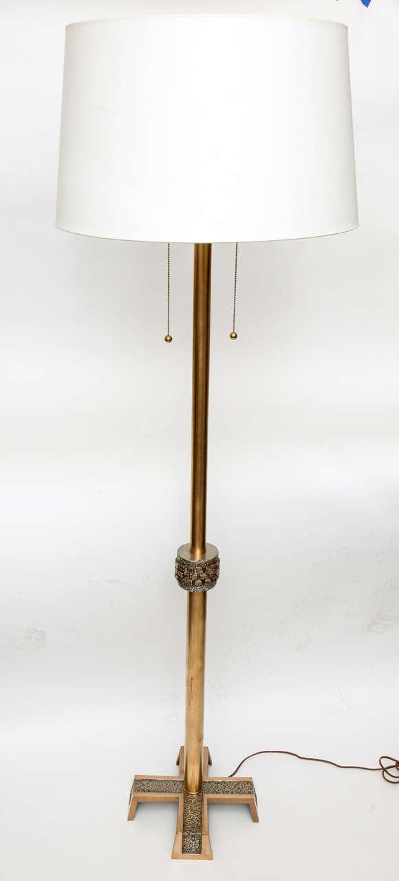 Mid-Century Modern 1960s Modernist Architectural Floor Lamp For Sale