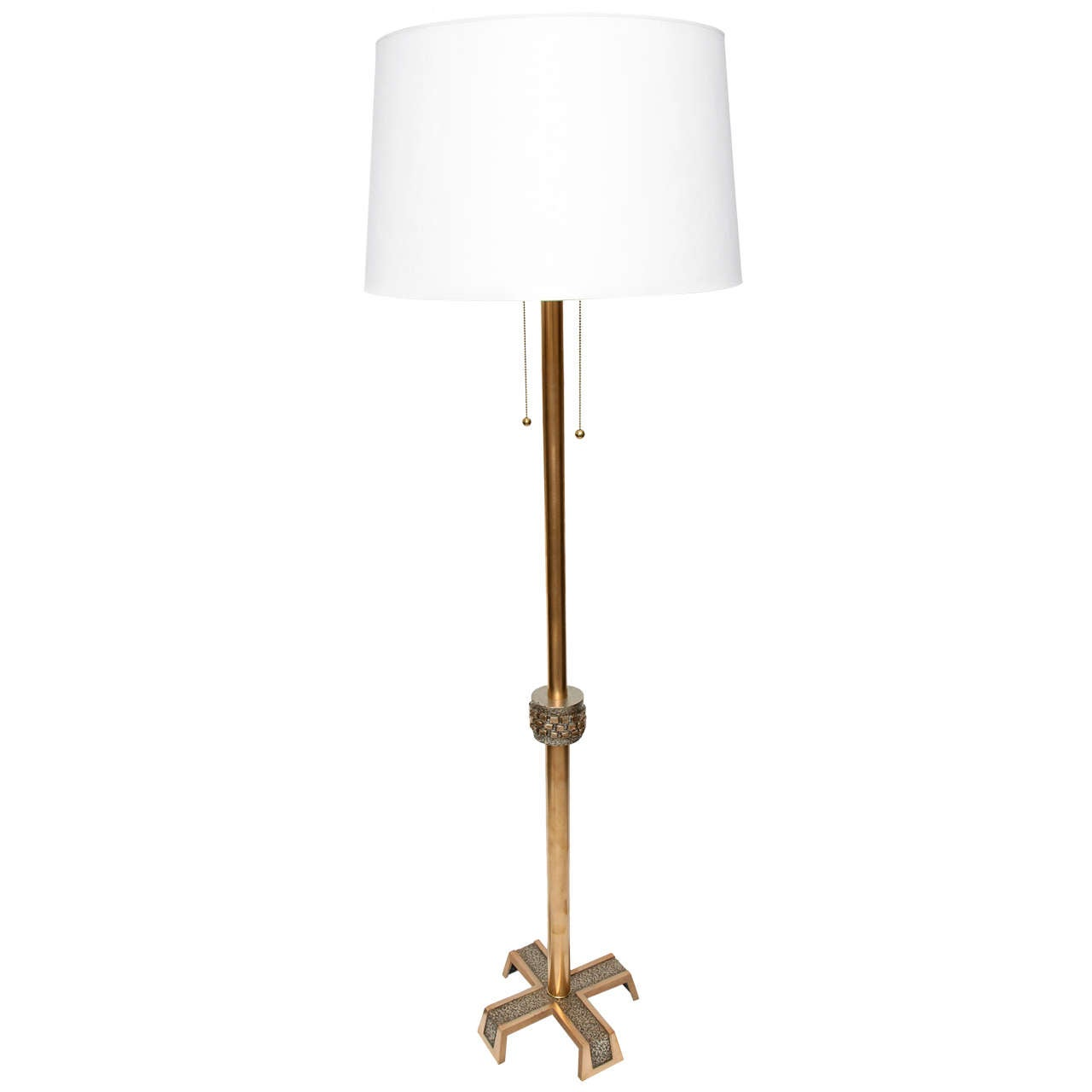 1960s Modernist Architectural Floor Lamp For Sale