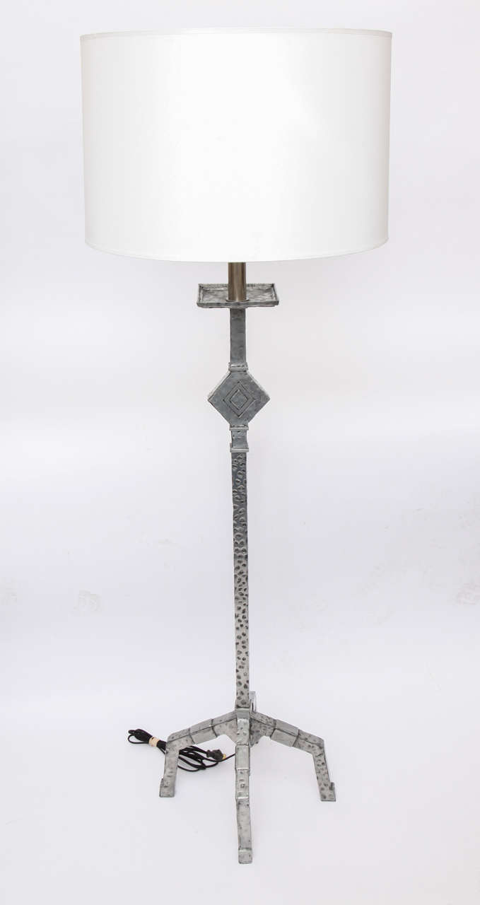 A 1930s American modernist floor lamp. Shade not included
