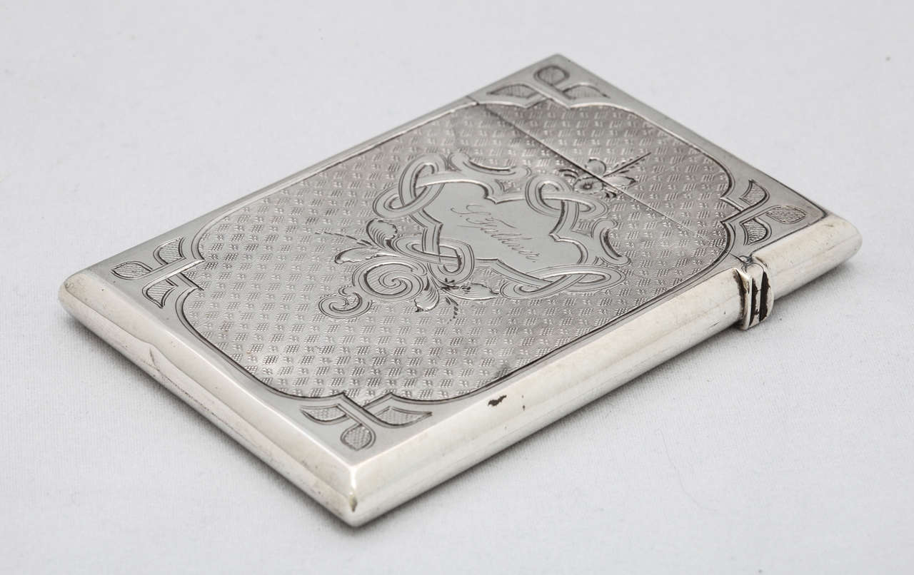 American Coin Silver Calling Card Case For Sale 5