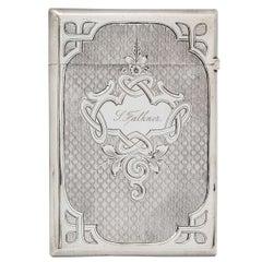 American Coin Silver Calling Card Case