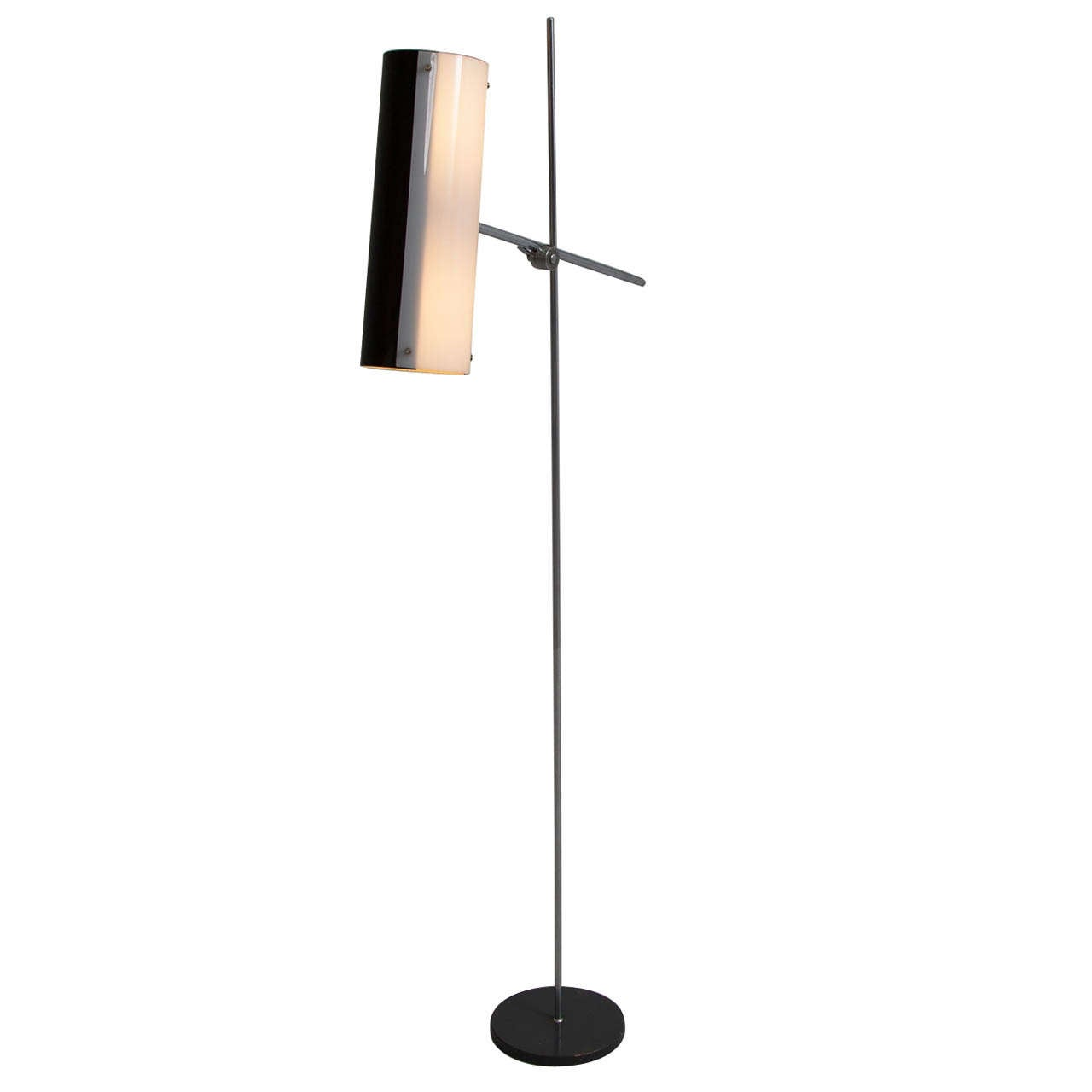 Modernist Chrome Floor Lamp with Adjustable Shade For Sale ...