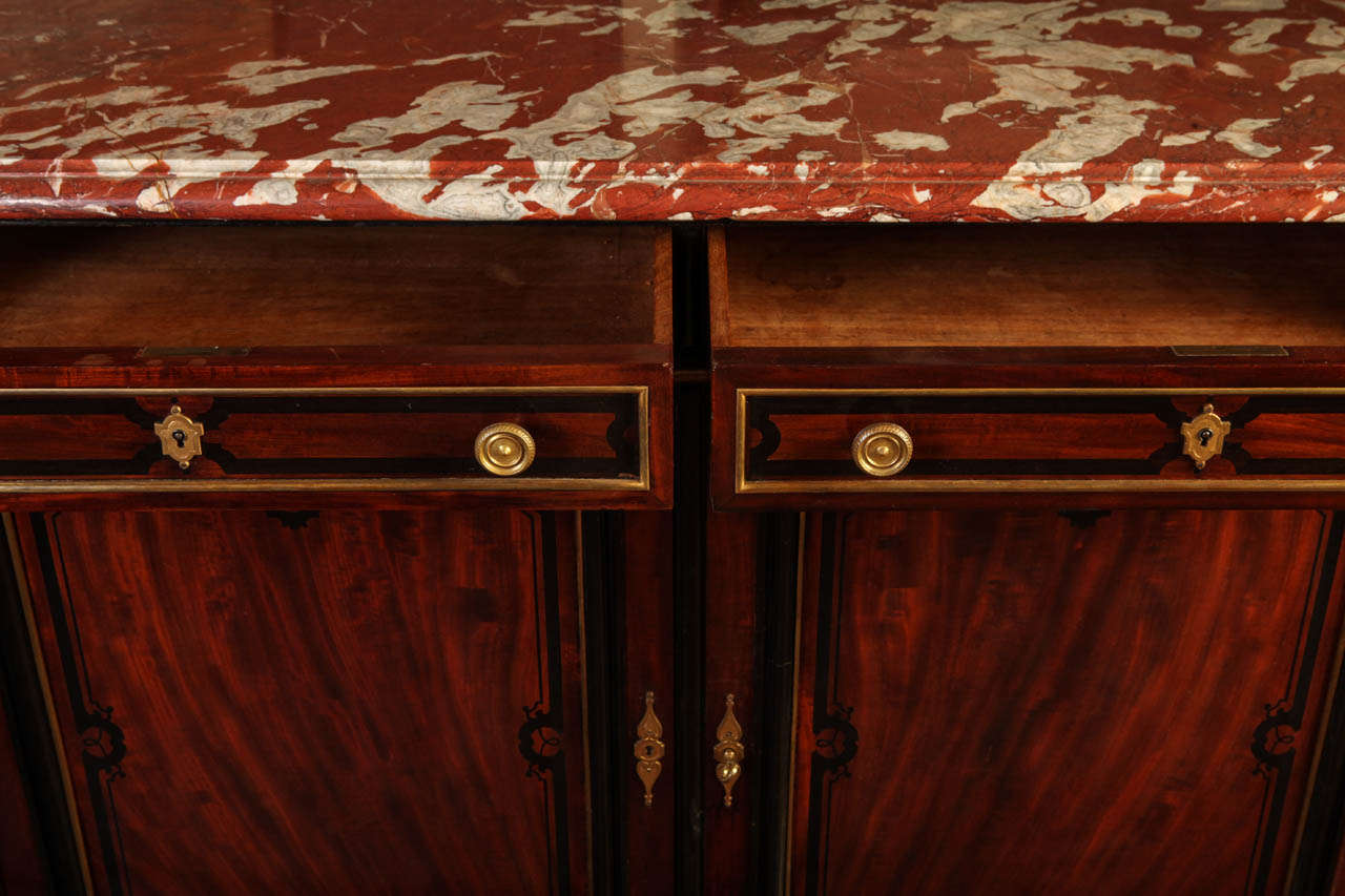 Fine French 19th Century Enfilade with MarbleTop Royal Rouge of  -> Enfilade Rouge