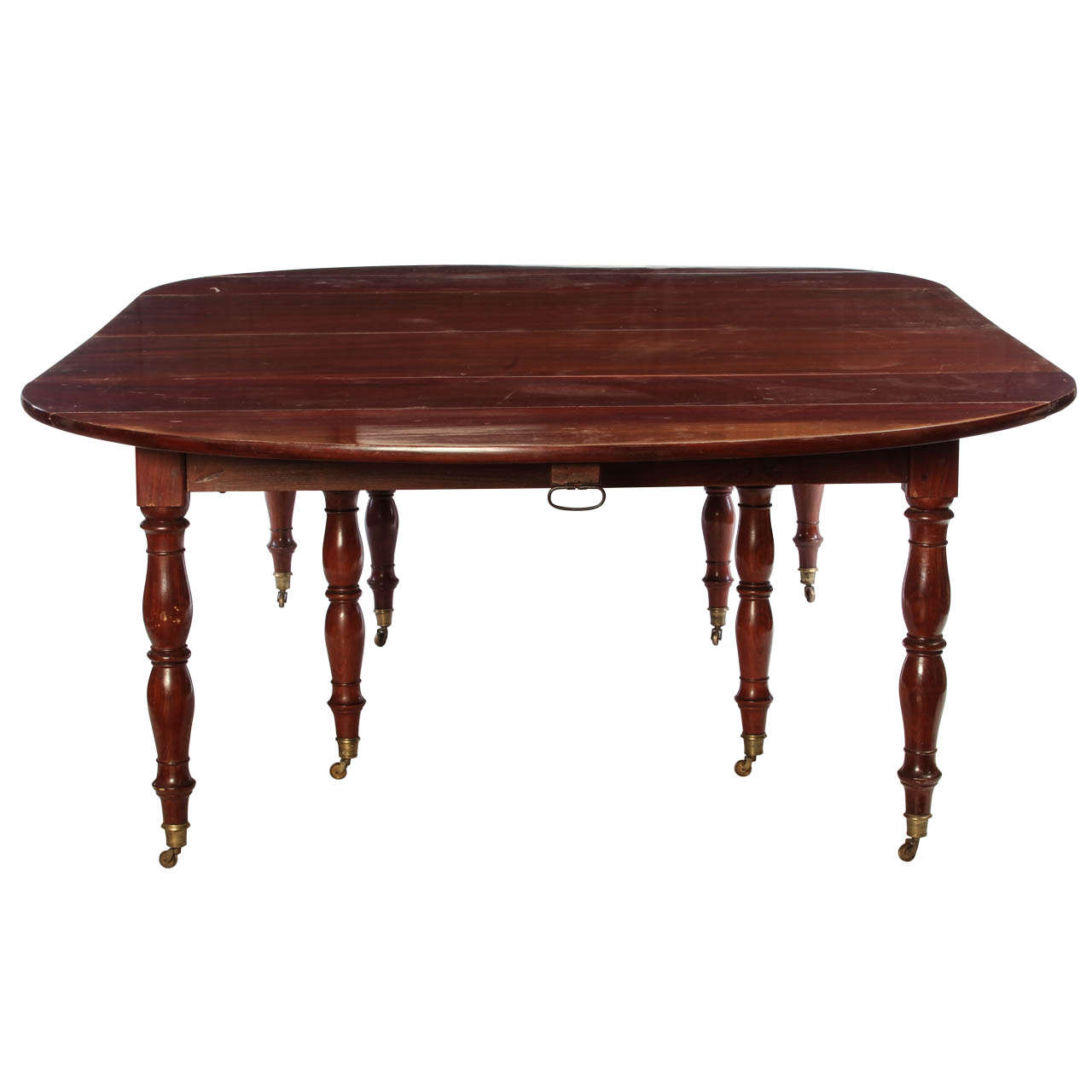 Fine french 18th century mahogany extending drop leaf for Dining table with two leaves