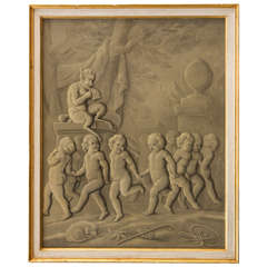 Late 18th Century French Grisaille Painting