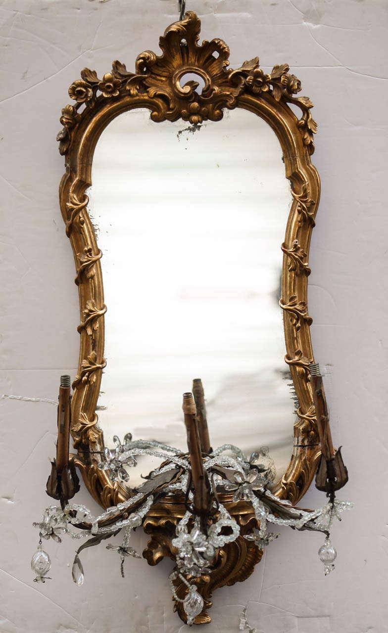 Italian Fine Set of Four 18th Century Roman  Giltwood Mirrors For Sale