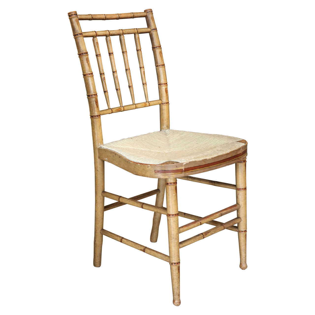 English Regency Faux Bamboo Side Chair At 1stdibs