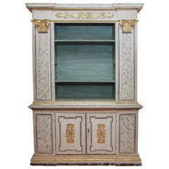 18th Century Italian and Gilt Painted Bookcase