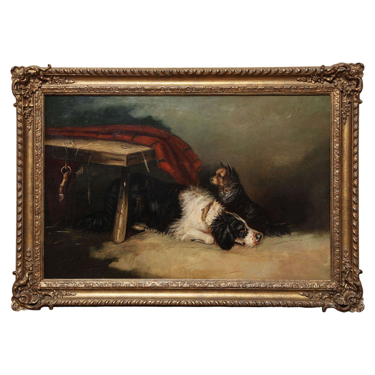 19th Century English, Oil on Canvas, Dog Painting