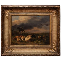 19th Century Dutch Painting by B. P. Ommeganck