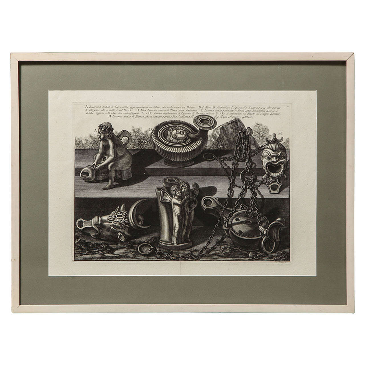 "19th Century"" Piranesi"" Steel Engraving"