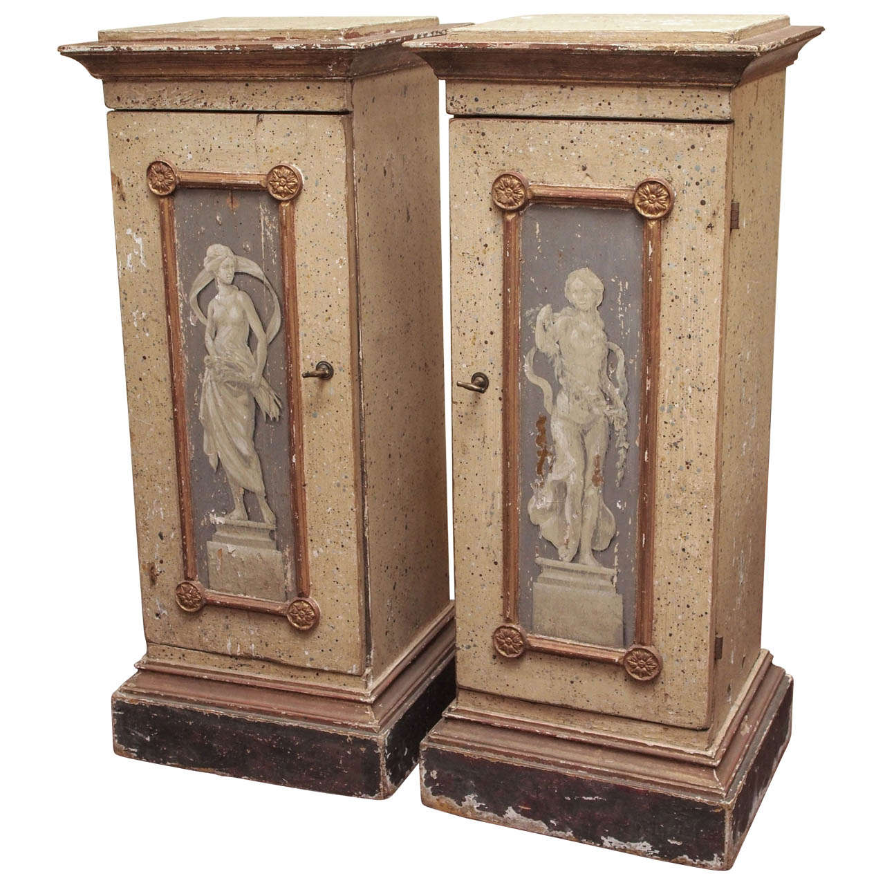 Pair of 19th Century Italian Plinths