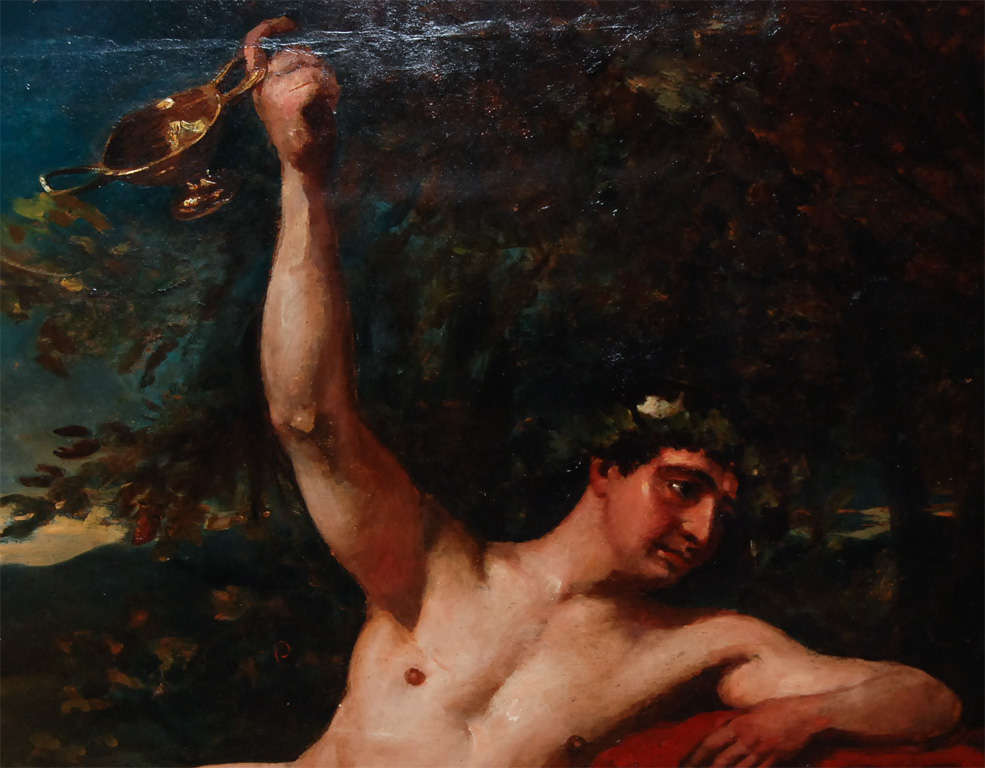 Bacchus 19th C Painting For Sale 1
