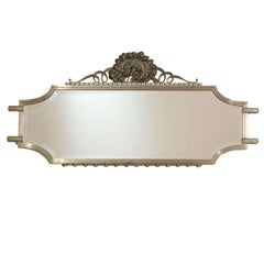 Raymond Subes, Wrought Iron Art Deco Mirror, France, C. 1925