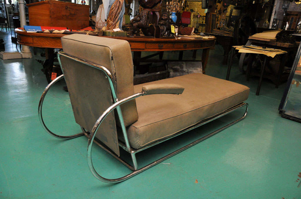 Art Deco Adjustable Chrome Chaise Longue At 1stdibs