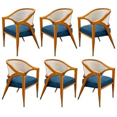 """Set of Six 1950s """"Captain's"""" Chairs by Edward Wormley for Dunbar"""