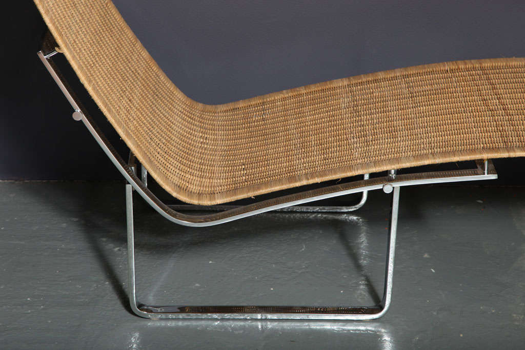Cane chaise longue by poul kjaerholm at 1stdibs for Cane chaise longue