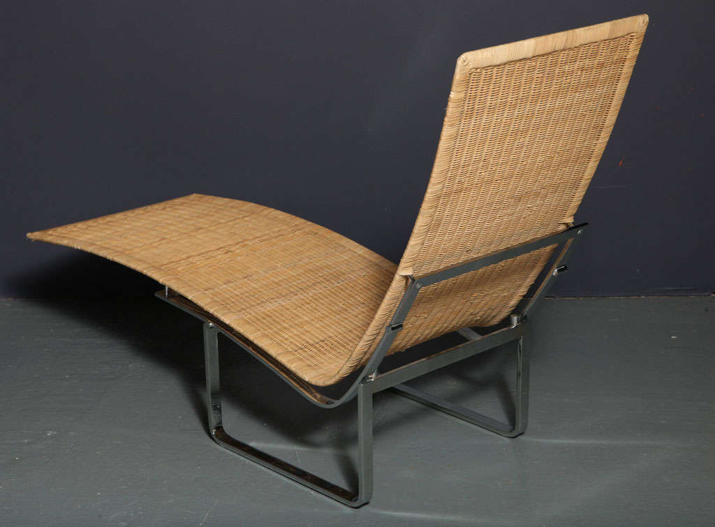Cane chaise longue by poul kj rholm for sale at 1stdibs for Cane chaise longue