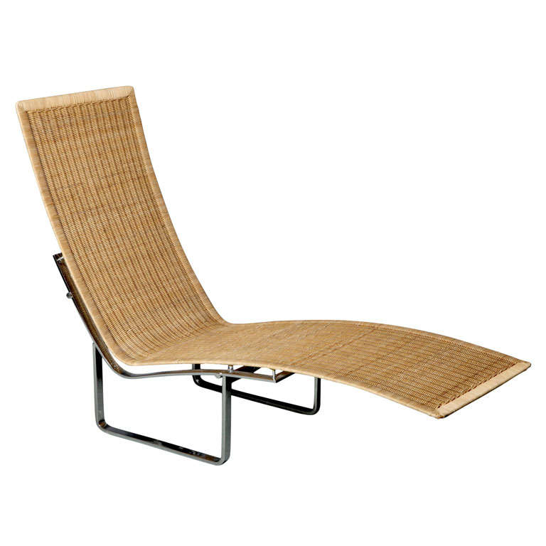 Cane chaise longue by poul kj rholm at 1stdibs for Cane chaise longue