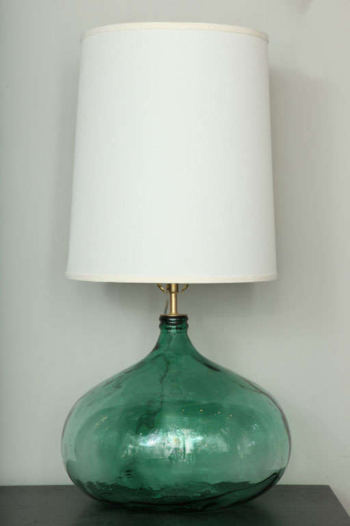 hand blown glass bubble table lamp at 1stdibs. Black Bedroom Furniture Sets. Home Design Ideas