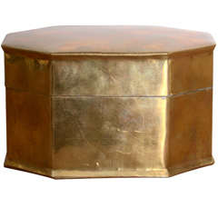 Burnished Brass Octagonal Box