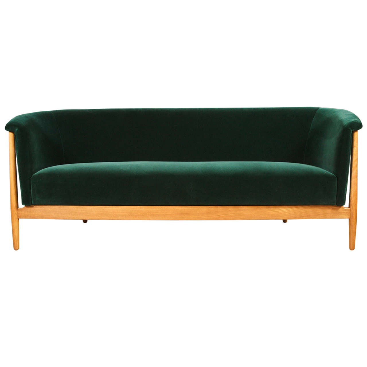 Nanna ditzel curved arm sofa at 1stdibs for Sofa with only one arm