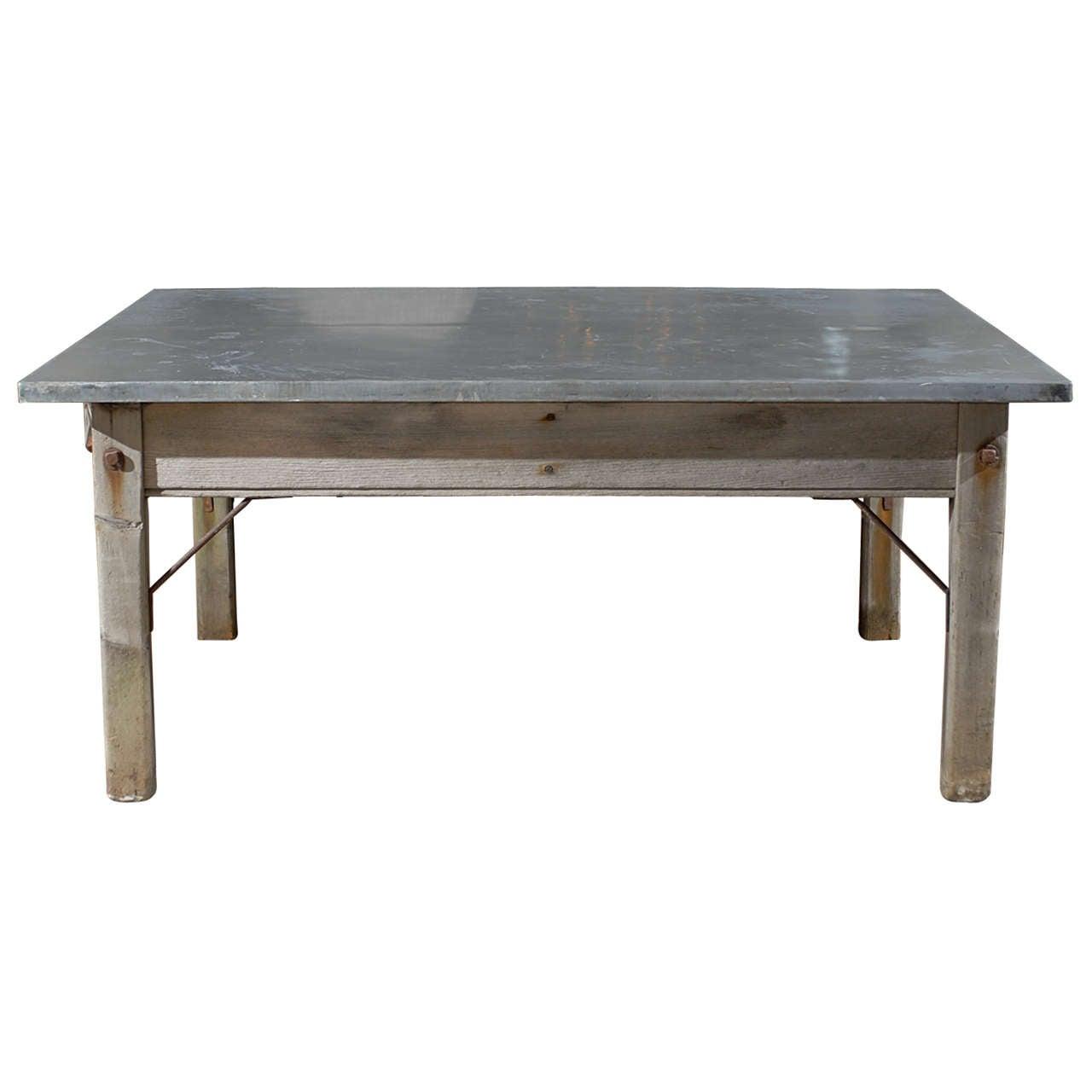 Zinc Top Table At 1stdibs
