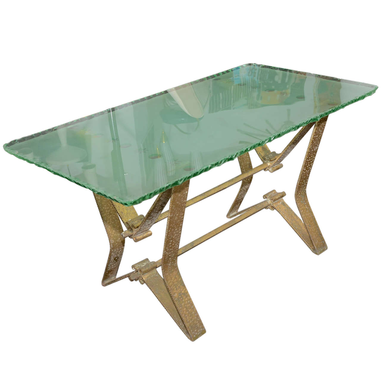 Rare Glass Coffee Table By Colli For Sale At 1stdibs