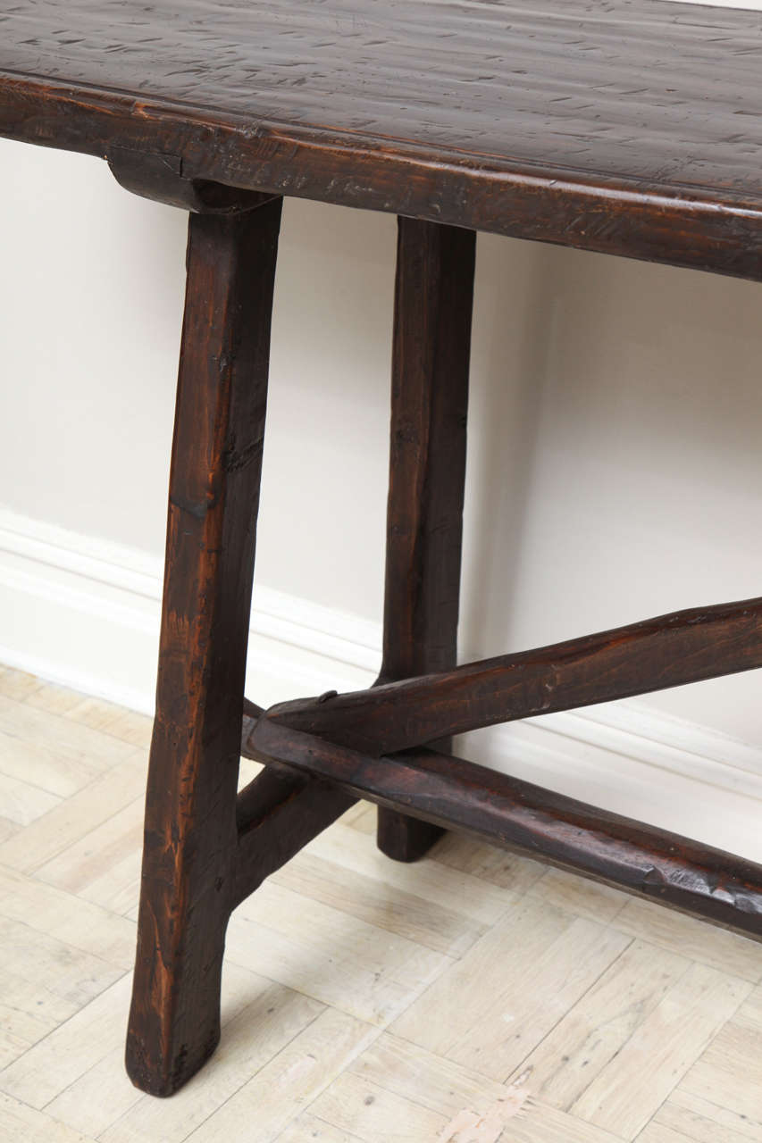 Trestle Console Table Late 18th Century Walnut Trestle  : IMG6788 from diydesign.org size 853 x 1280 jpeg 73kB