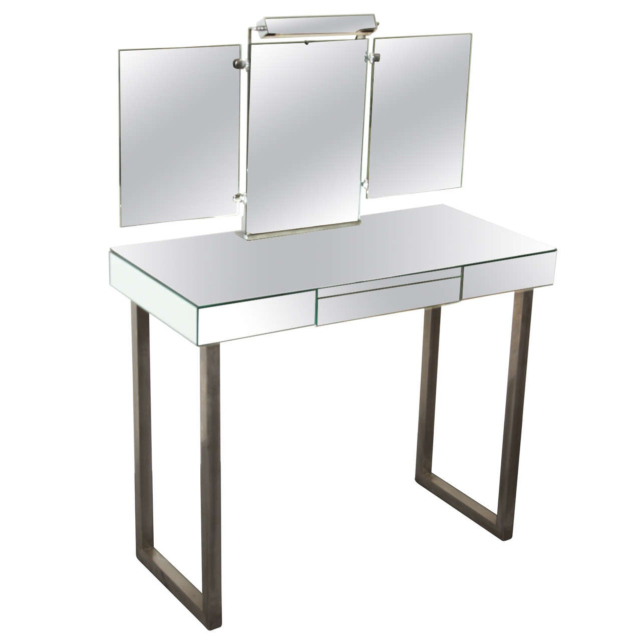 Jacques Adnet Mirrored Vanity