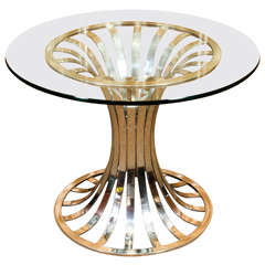 Polished Woodard Center Table