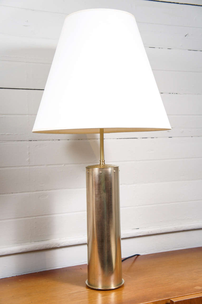 arts and crafts brass table lamp at 1stdibs. Black Bedroom Furniture Sets. Home Design Ideas