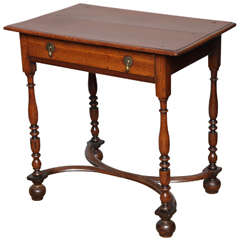 English Oak William and Mary Side Table