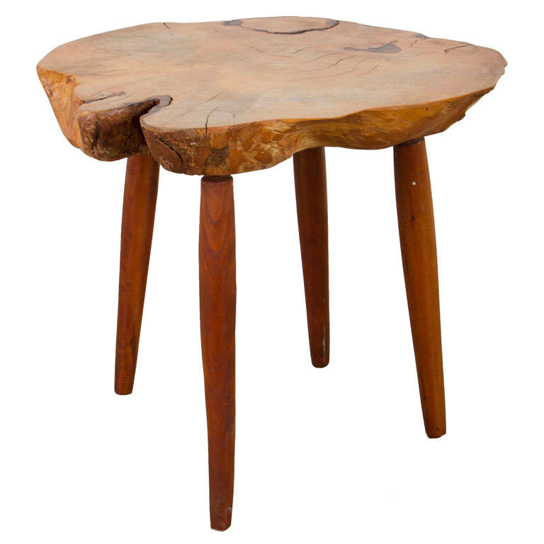 Petite Free Edge Side Table By Roy Sheldon For Sale