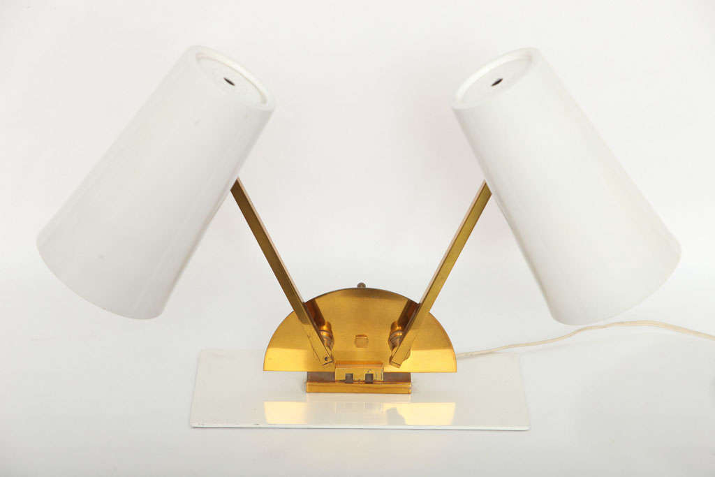 A 1950s Italian articulated table lamp.