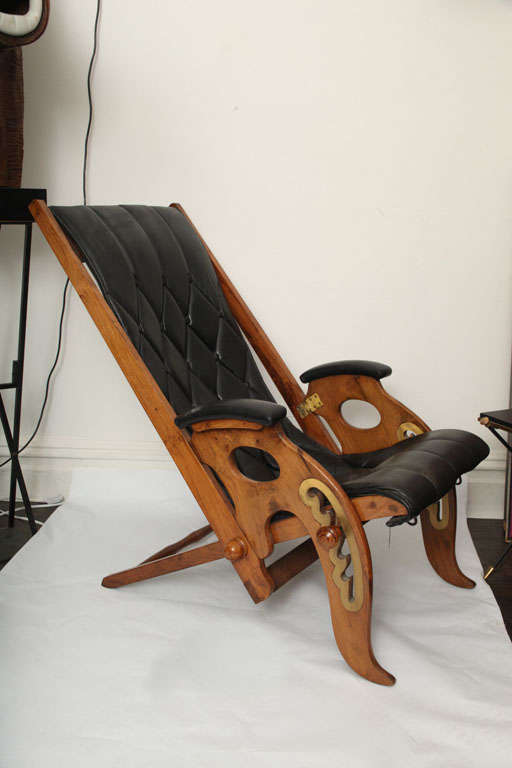 A  Lounge Chair Mid Century Modern height adjusts Italy 1960's