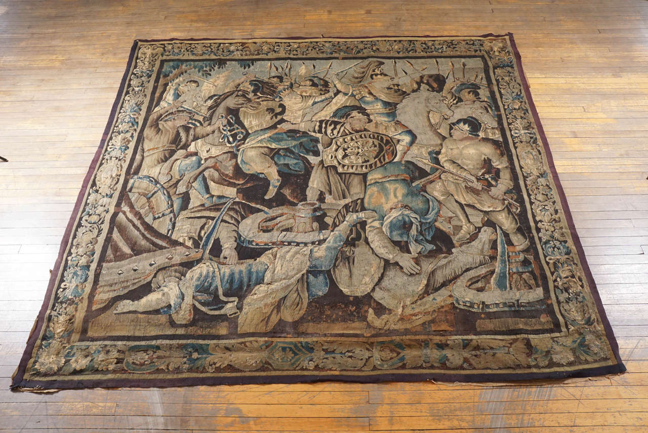 Exquisite late 17th century, French historical tapestry from the Aubusson tapestry manufacture depicting